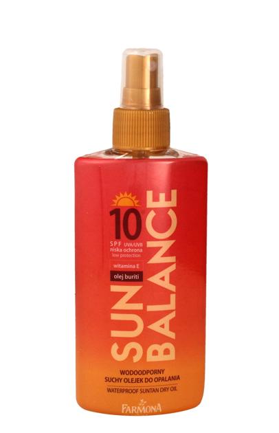"Farmona Sun Balance Suchy olejek do opalania wodoodporny SPF10 spray  150ml"""