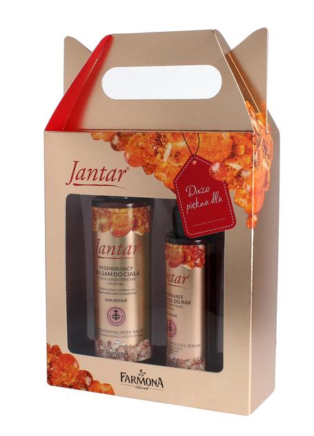 "Farmona Zestaw prezentowy Jantar DNA Repair Platinum (balsam do ciała 200ml+serum do rąk 100ml)"""