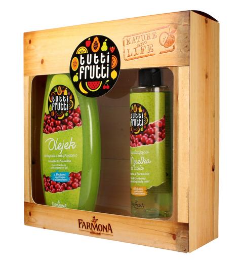 """Farmona Zestaw prezentowy Tutti Frutti Gruszka&Żurawina (olejek do kąpieli 425ml+mgiełka do ciała 200ml)"""""""