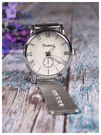 Fashion -Klasyka i elegancja srebrny damski zegarek retro                                   zdj.                                  2
