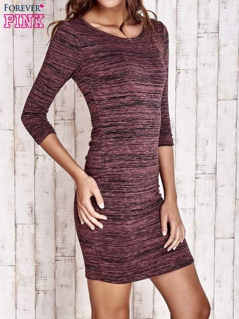 Fioletowa prosta melanżowa sukienka                                   zdj.                                  3