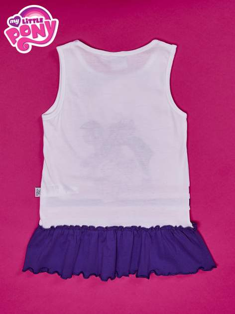 Fioletowa tunika dla dziewczynki z falbanką na dole MY LITTLE PONY                                  zdj.                                  2