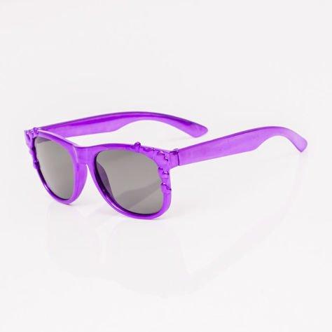 Fioletowe Dziecięce Okulary przeciwsłoneczne Z Metalicznym Połyskiem                              zdj.                              2