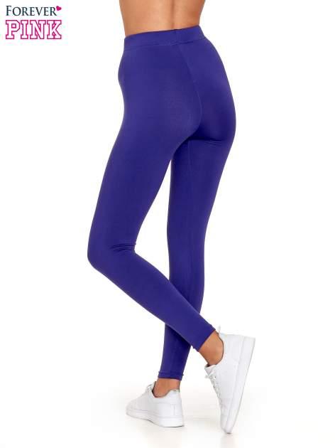 Fioletowe legginsy basic z lekkim ociepleniem                                  zdj.                                  2