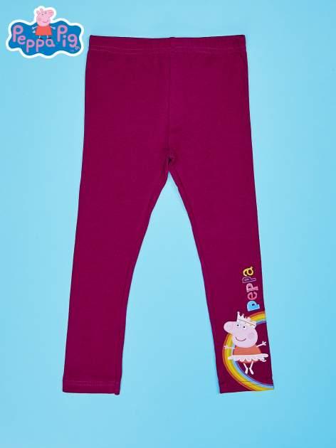 Fioletowe legginsy dla dziewczynki ŚWINKA PEPPA