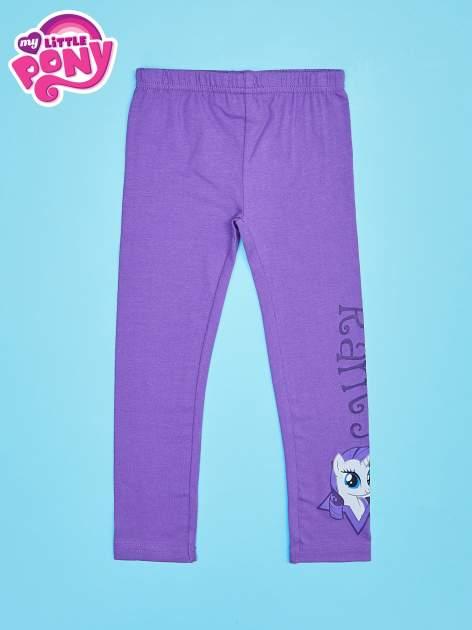 Fioletowe legginsy dla dziewczynki motyw MY LITTLE PONY                                   zdj.                                  1