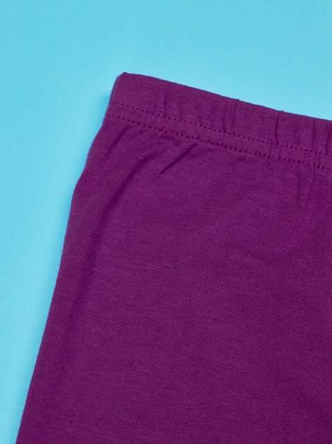 Fioletowe legginsy dla dziewczynki nadruk ŚWINKA PEPPA                                  zdj.                                  5