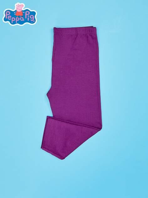 Fioletowe legginsy dla dziewczynki nadruk ŚWINKA PEPPA                                  zdj.                                  3