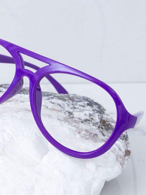 Fioletowe okulary bez szkieł                              zdj.                              3