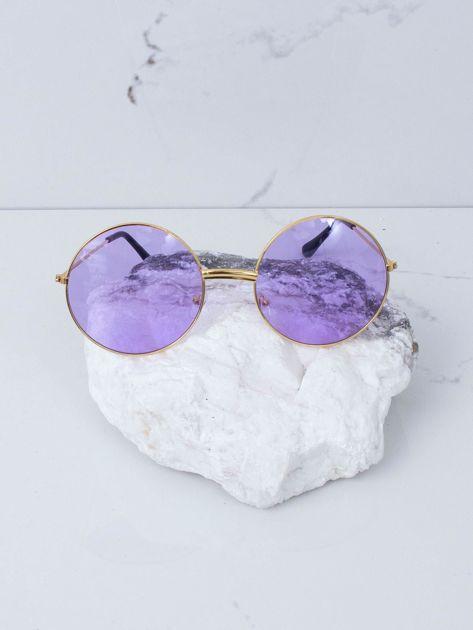 Fioletowe okulary hippie                              zdj.                              2
