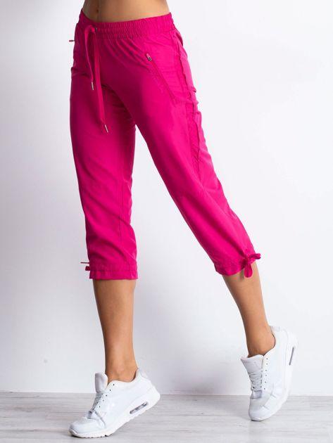 Fioletowe spodnie sportowe capri z siateczką                                  zdj.                                  4