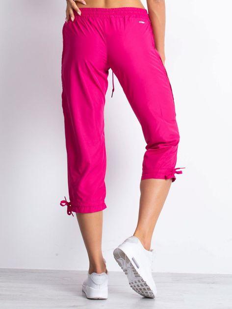 Fioletowe spodnie sportowe capri z siateczką                                  zdj.                                  3