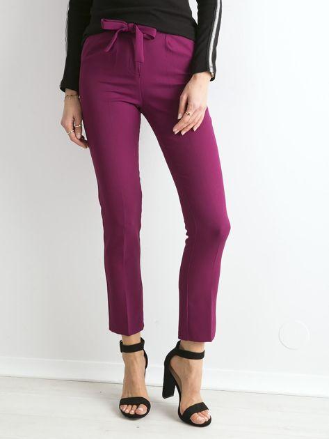 Fioletowe spodnie z wiązaniem                               zdj.                              1