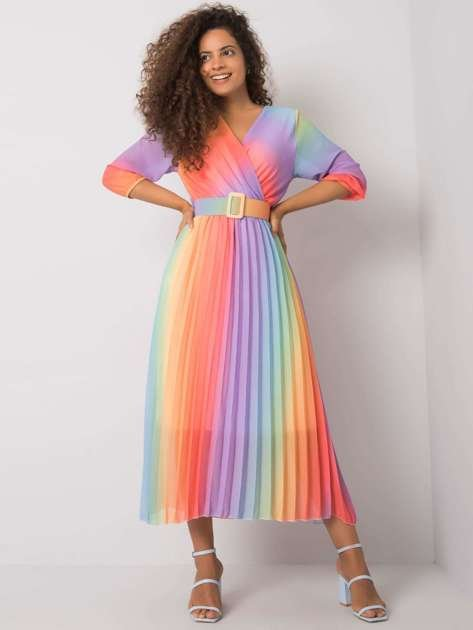 Fioletowo-różowa sukienka ombre Elliana
