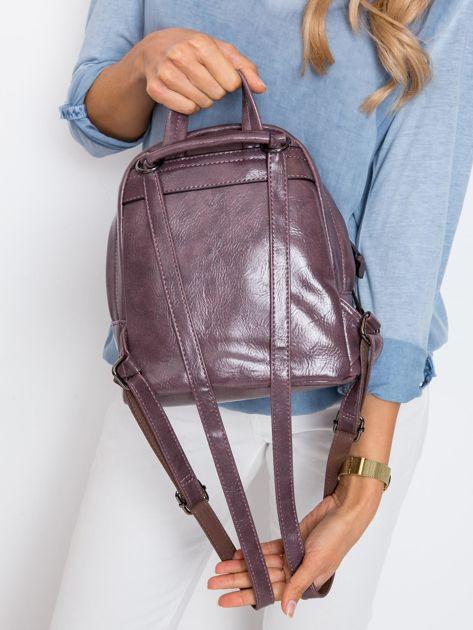 Fioletowy plecak z eko skóry                              zdj.                              5