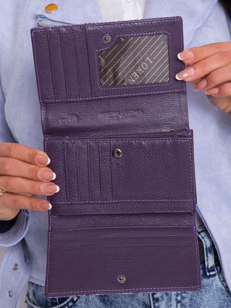 Fioletowy portfel damski we wzory                              zdj.                              6