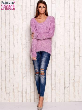 Fioletowy sweter z długim włosem                                  zdj.                                  2