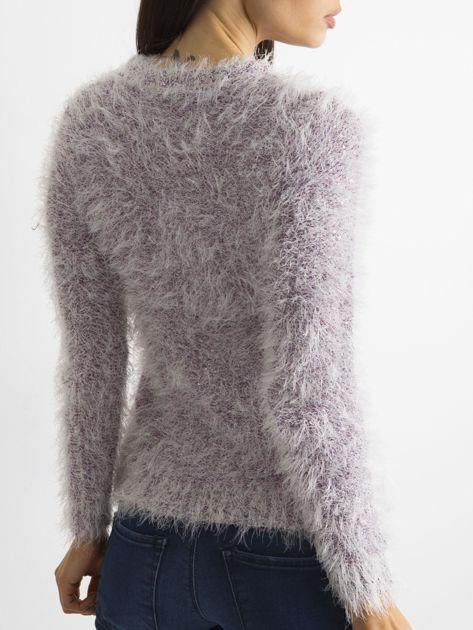 Fioletowy sweter z długim włosem i cekinami                              zdj.                              5