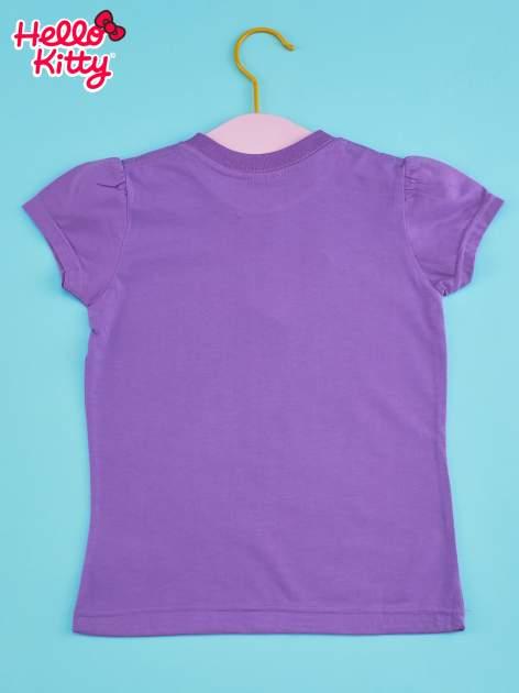 Fioletowy t-shirt dla dziewczynki HELLO KITTY                                  zdj.                                  2