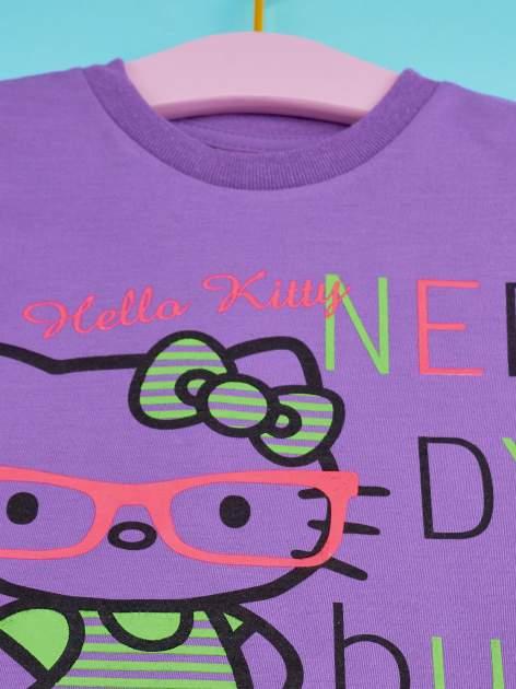 Fioletowy t-shirt dla dziewczynki HELLO KITTY                                  zdj.                                  4