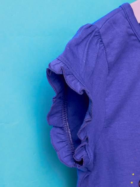 Fioletowy t-shirt dla dziewczynki HELLO KITTY z wiązaniem na dole                                  zdj.                                  6