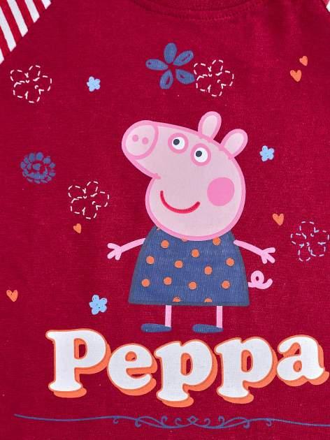 Fioletowy t-shirt dla dziewczynki ŚWINKA PEPPA                                  zdj.                                  4