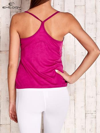 Fioletowy top sportowy na cienkich ramiączkach