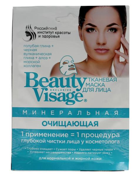Fitocosmetics Beauty Visage Maseczka na tkaninie mineralna oczyszczająca 25 ml