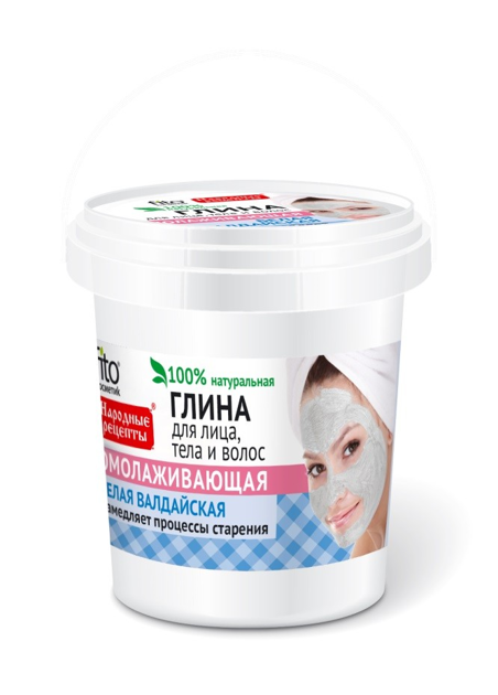 Fitocosmetics Przepisy Ludowe Glinka biała odmładzająca do twarzy, ciała i włosów 155 ml