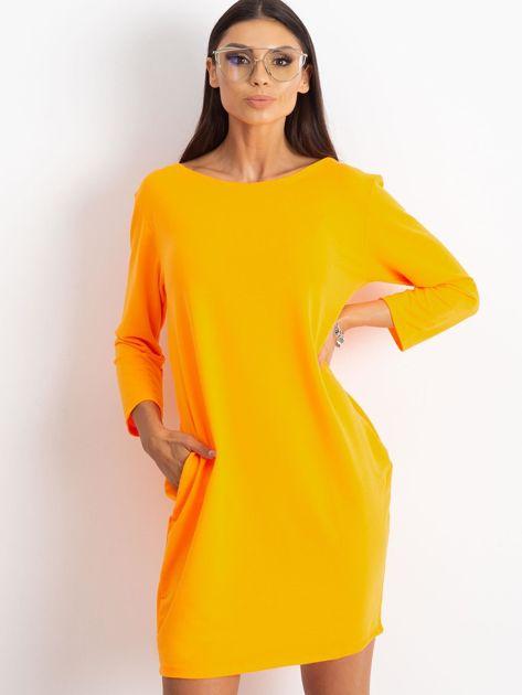 Fluo pomarańczowa sukienka Distinguished                              zdj.                              5