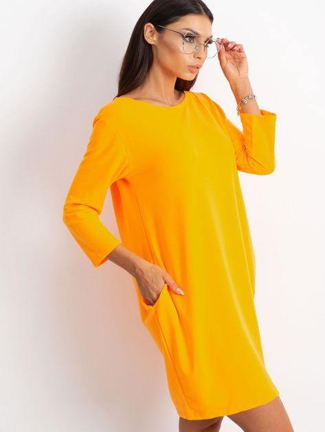 Fluo pomarańczowa sukienka Distinguished                              zdj.                              3