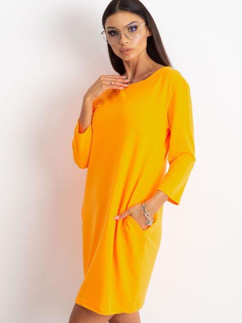 Fluo pomarańczowa sukienka Distinguished                              zdj.                              6