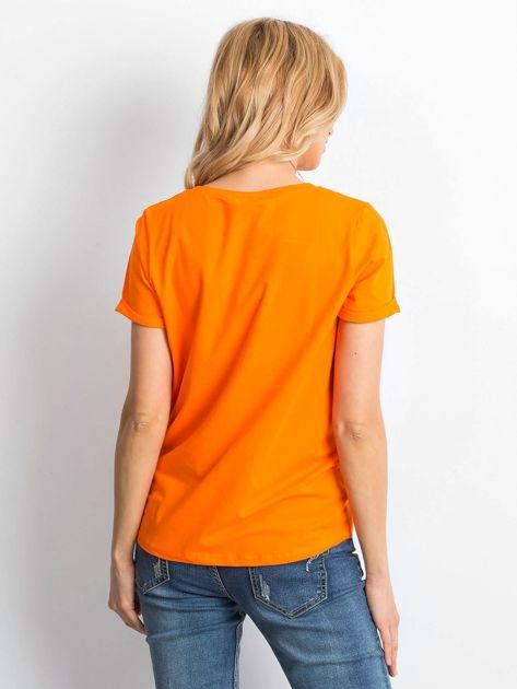 Fluo pomarańczowy t-shirt Transformative                              zdj.                              2