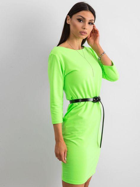 Fluo zielona sukienka z bawełny                              zdj.                              3