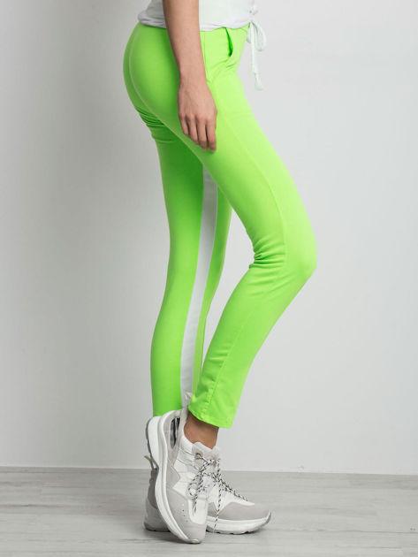 Fluo zielone spodnie dresowe Defined                              zdj.                              3