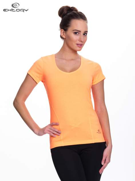 Fluopomarańczowy t-shirt sportowy PLUS SIZE