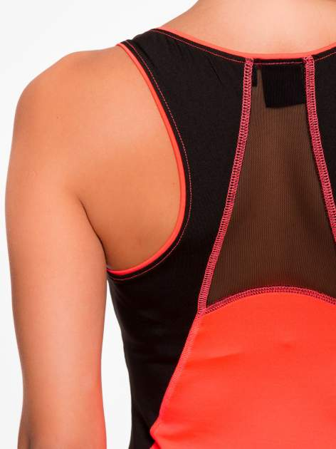 Fluoróżowy termoaktywny top sportowy z siatczką z tyłu ♦ Performance RUN                                  zdj.                                  8