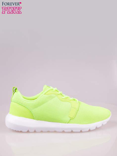 Fluozielone buty sportowe eco leather On Fire                                  zdj.                                  1