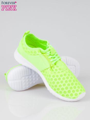 Fluożółte buty sportowe textile Drive Me Crazy z siateczki na podeszwie flex                                  zdj.                                  4