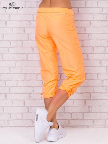 Fluożółte spodnie sportowe capri z wiązaniem                                  zdj.                                  7