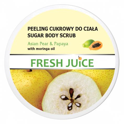 "Fresh Juice Peeling cukrowy do ciała Asian Pear & Papaya  225ml"""
