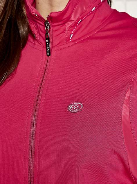 Fuksjowa bluza sportowa fitness ze wstawkami                                  zdj.                                  4