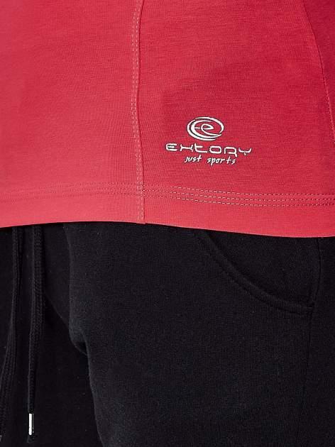 Fuksjowa bluzka sportowa z dekoltem U                                  zdj.                                  6