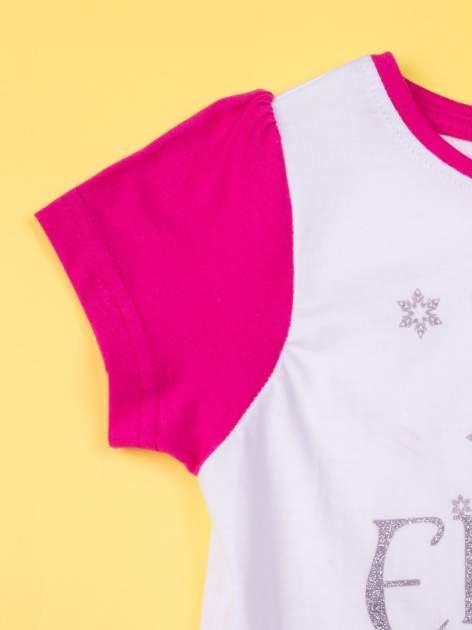 Fuksjowa piżama dla dziewczynki KRAINA LODU                                  zdj.                                  5