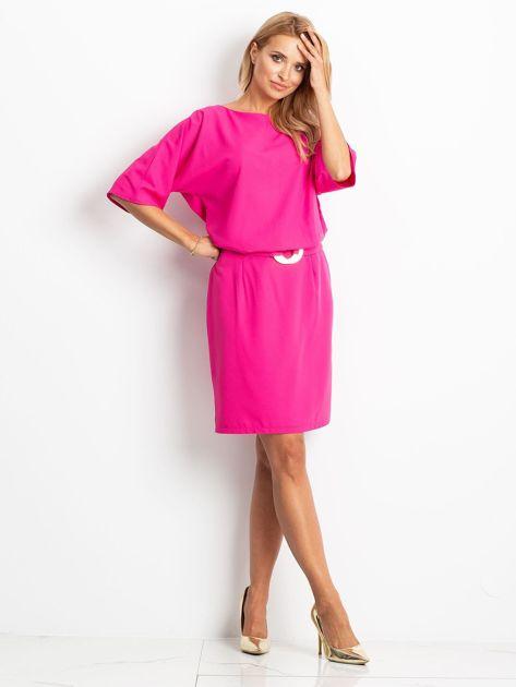 Fuksjowa sukienka Soft                              zdj.                              4