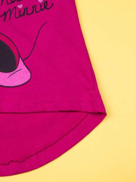 Fuksjowa tunika dla dziewczynki z nadrukiem MINNIE MOUSE                                  zdj.                                  5
