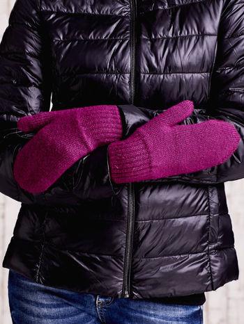 Fuksjowe gładkie rękawiczki z jednym palcem                                  zdj.                                  3