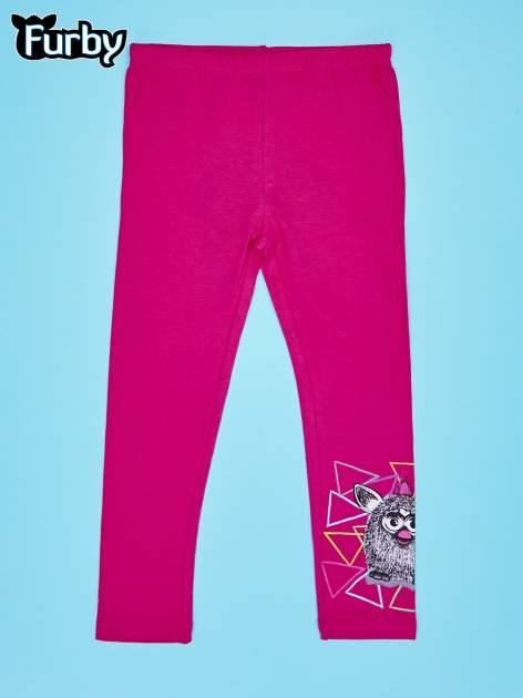 Fuksjowe legginsy dla dziewczynki z motywem FURBY
