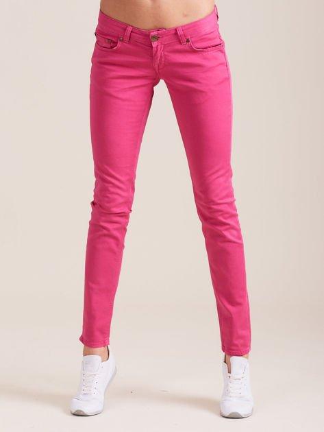 Fuksjowe spodnie o kroju regular                              zdj.                              1