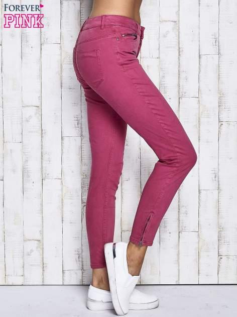 Fuksjowe spodnie z suwakami na nogawkach                              zdj.                              3
